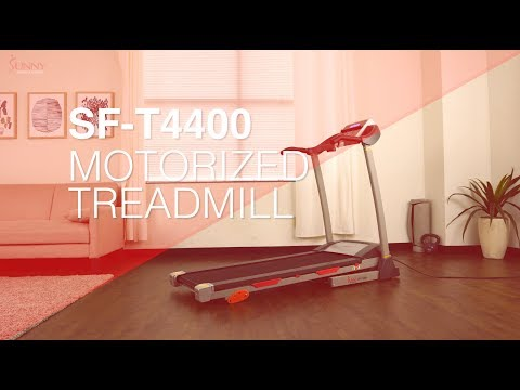 Sunny Health & Fitness SF-T4400 Treadmill with Manual Incline