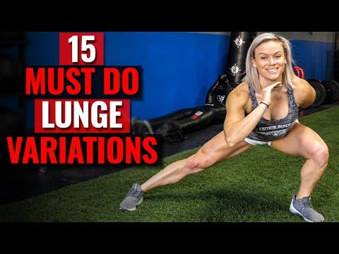 15 MUST DO Lunge Variation Lower Body Exercises (STRONG Legs & Glutes)