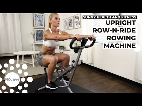 Sunny Health & Fitness No.077 Upright Row-N-Ride Trainer
