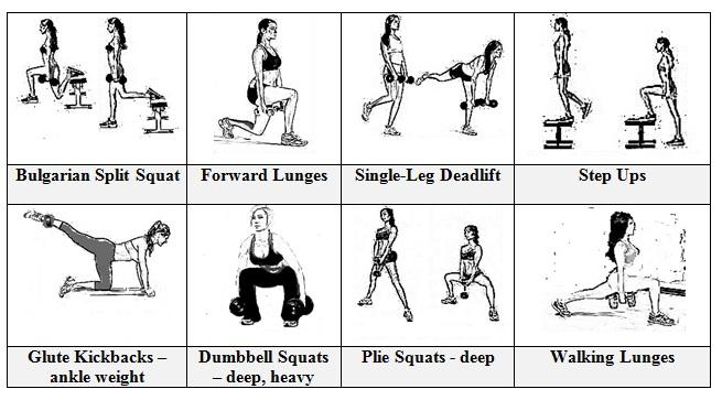 butt exercises workout plan