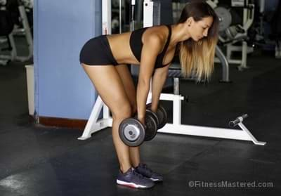 Stiff Leg Dumbbell Deadlift form and muscles worked